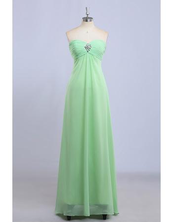 Discount Empire Sweetheart Floor Length Chiffon Bridesmaid Dresses