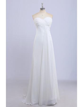 Custom Empire Sweetheart Floor Length Chiffon Bridesmaid Dresses