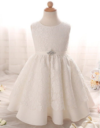 Affordable Floor Length Lace Flower Girl/ First Communion Dresses