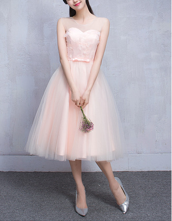 2018 New Style Sweetheart Sleeveless Knee Length Bridesmaid Dresses