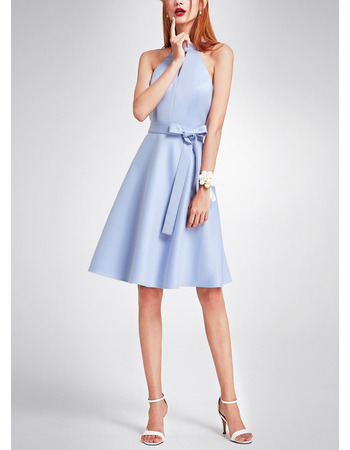 Affordable Halter Sleeveless Mini/ Short Cocktail Party Dresses