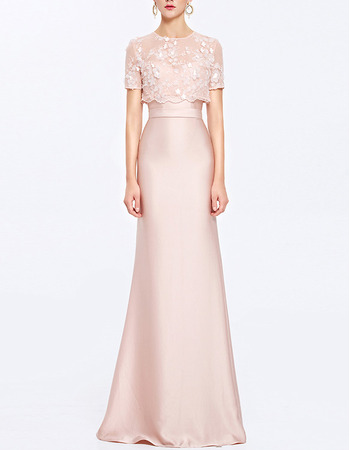 Elegant Sweetheart Long Satin Evening Dresses with Overall
