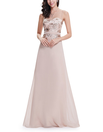 Custom Floor Length Chiffon Embroidery Evening/ Prom/ Formal Dresses