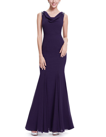 Affordable Mermaid Floor Length Chiffon Evening/ Prom/ Formal Dresses