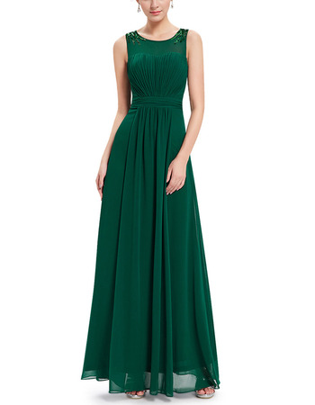 2018 New Style Sleeveless Floor Length Chiffon Evening/ Prom Dresses