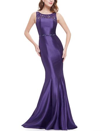 Discount Sheath Sleeveless Floor Length Satin Black Evening Dresses