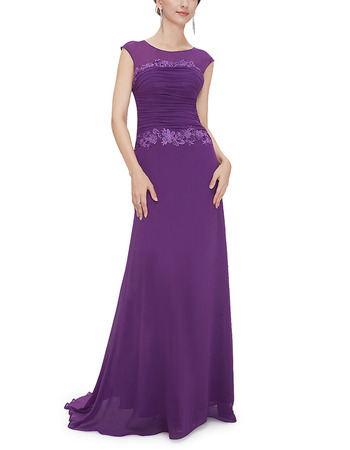 Formal Sleeveless Floor Length Chiffon Evening/ Prom Dresses