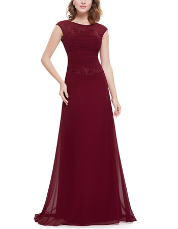 2018 New Style A-Line Floor Length Chiffon Evening/ Prom Dresses