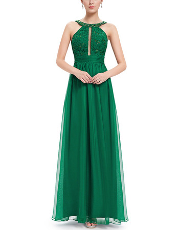 2018 Style Floor Length Chiffon Evening/ Prom Dresses with Straps