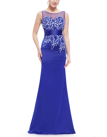 Custom Sheath Sleeveless Floor Length Satin Evening/ Prom Dresses