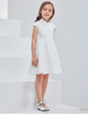 2018 New Style Mandarin Collar Mini/ Short Flower Girl Dresses