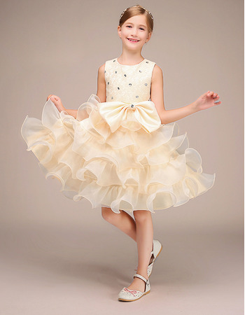 Affordable Short Ruffle Skirt Flower Girl / Little Girl Party Dresses