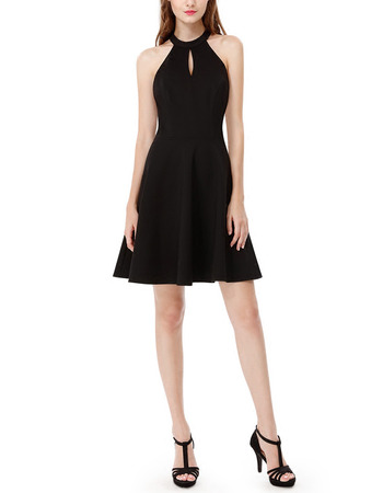Discount Halter Mini Backless Homecoming/ Little Black Dresses