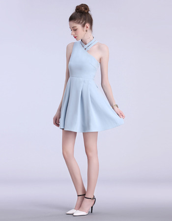 Custom One Shoulder Mini/ Short Asymmetric Homecoming Dresses