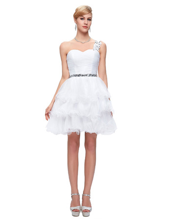 2018 Style One Shoulder Mini/ Short Homecoming/ Graduation Dresses