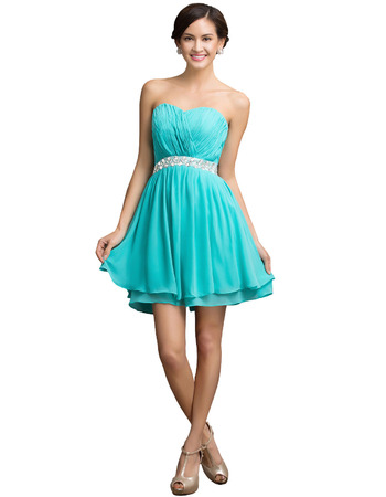 Affordable Sweetheart Mini/ Short Chiffon Homecoming/ Party Dresses