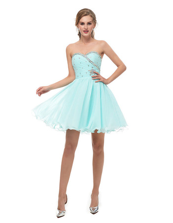 2018 New A-Line Sweetheart Mini/ Short Homecoming/ Graduation Dresses