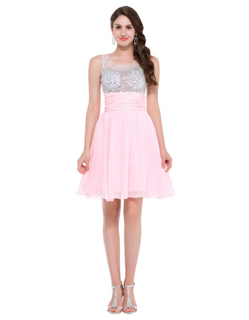 Discount Mini/ Short Chiffon Homecoming/ Graduation/ Party Dresses