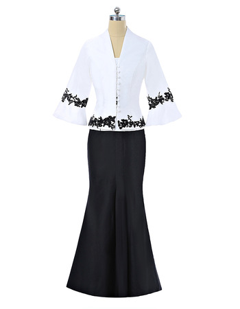 Affordable Mermaid Short Sleeves Floor Length Mother Dress with Jacket