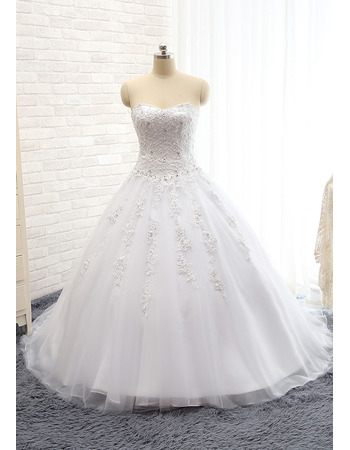 2018 New Style Ball Gown Sweetheart Floor Length Wedding Dresses