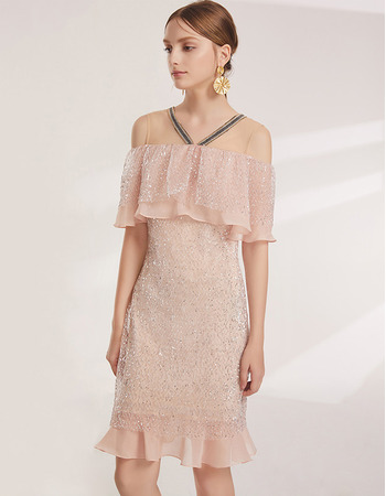 Inexpensive Off-the-shoulder Short Lace Cocktail/ Holiday Dresses
