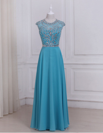 Inexpensive Floor Length Chiffon Evening/ Prom/ Formal Dresses