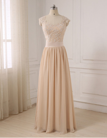 Elegant Sweetheart Floor Length Chiffon Evening/ Prom/ Formal Dresses