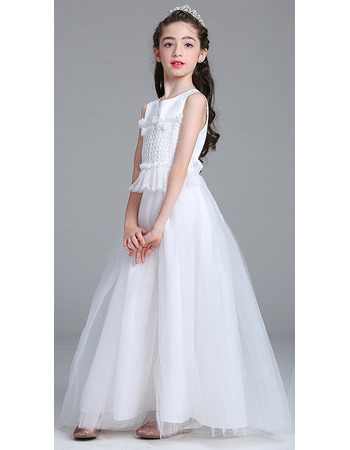 Inexpensive A-Line Ankle Length Flower Girl Dresses for Wedding