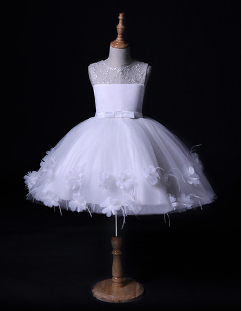 Lovely Ball Gown Mini/ Short Flower Girl Dresses for Wedding