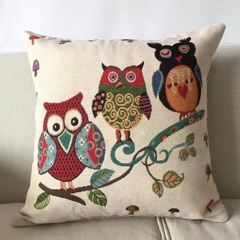 Adorable Pillowcase Owl Decorative 18