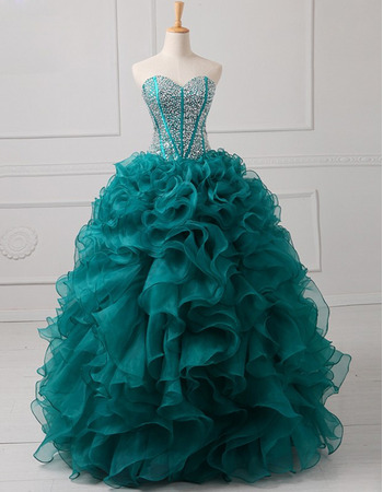 Elegant Ball Gown Sweetheart Floor Length Prom/ Quinceanera Dresses
