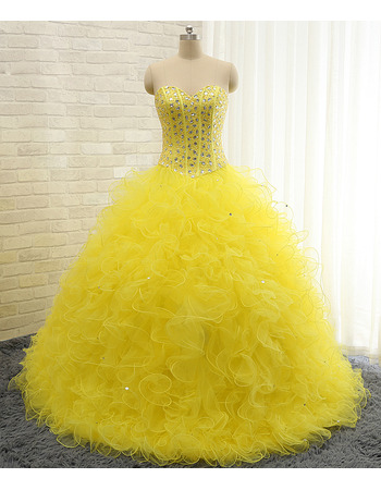 Elegant Ball Gown Sweetheart Floor Length Prom/ Quinceanera Dress