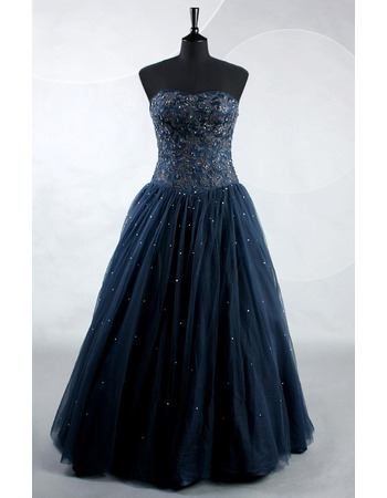 Custom Sweetheart Floor Length Beading Prom/ Party/ Formal Dresses
