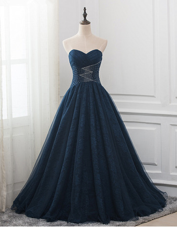 Discount Sweetheart Floor Length Lace Prom/ Party/ Formal Dresses