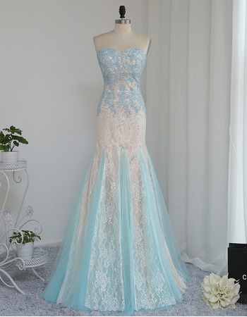 Discount Mermaid Sweetheart Long Lace Multi-Color Prom/ Formal Dresses
