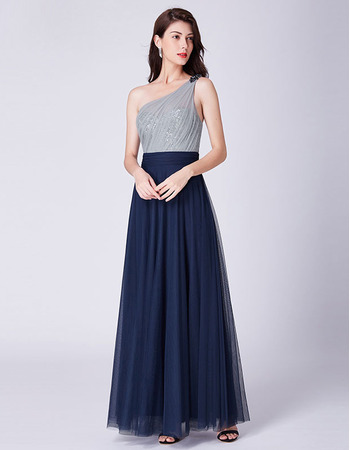 2019 New Style One Shoulder Floor Length Evening/ Prom/ Formal Dresses