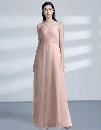 Custom Spaghetti Straps Floor Length Evening/ Prom/ Formal Dresses