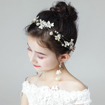 Flower Girl Headband Hairband Headwear Hair Accessory for Wedding
