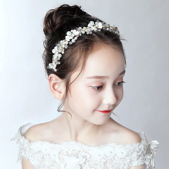 Flower Girl Beading Hoop Hairband Headband Headwear for Wedding