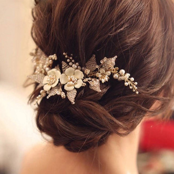 Alloy with Beads Wedding Headpieces/ Fascinators for Brides