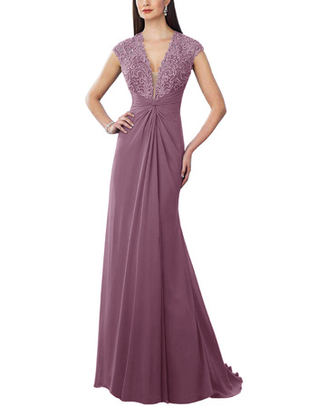 Custom V-Neck Floor Length Chiffon Bridesmaid/ Evening Dresses