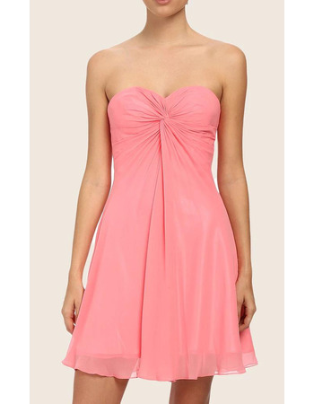 Sexy Sweetheart Sleeveless Chiffon Short Lacing Homecoming Dresses