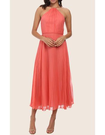 2019 New Style Halter Tea Length Pleated Chiffon Homecoming Dresses
