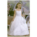 Discount Ball Gown Full Length Satin First Holy Communion Dresses