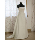 New Style Stunning and Graceful Chic A-Line Shoulder-Strap Court train Satin Organza Dress for Bride/Bridal Gown