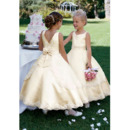 Discount Stunning Ball Gown Ankle Length Satin First Communion Dresses