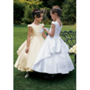 Inexpensive Ball Gown Ankle Length Satin First Communion Dresses