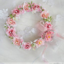Lotus and Rose with Diamond Bridal Garland Crown / Halo