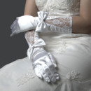 Ivory Lace Wedding Gloves with Bowknot