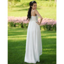 Simple Empire Spaghetti Straps Asymetrical Chiffon Wedding Dresses